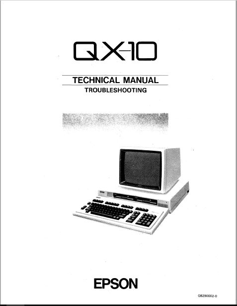 Epson QX-O TECHNICAL MANUAL TROUBLESHOOTING