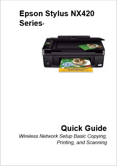Epson Stylus NX420 Series Manual