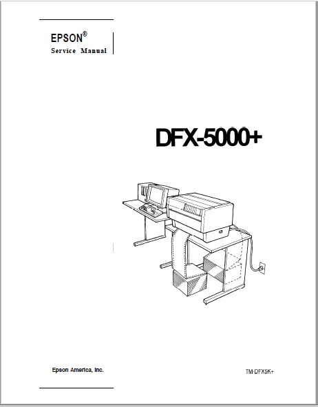 Epson Thermal Printer DFX-5000+ Service Manual