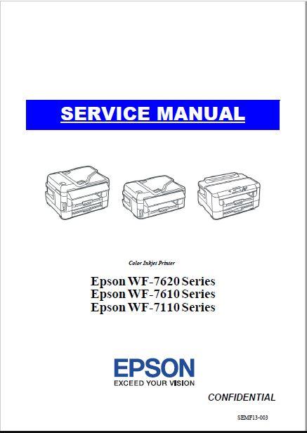 Epson WF-7620, WF-7610, WF-7110 Service Manual