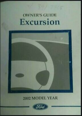 2002 Ford Excursion Owners Manual