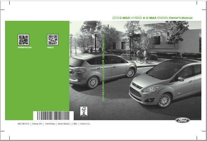 2013 Ford C-Max Owners Manual