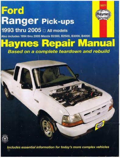 Ford Ranger Service and Repair Manual