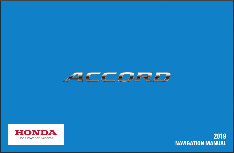 2019 Honda Accord Navigation Manual