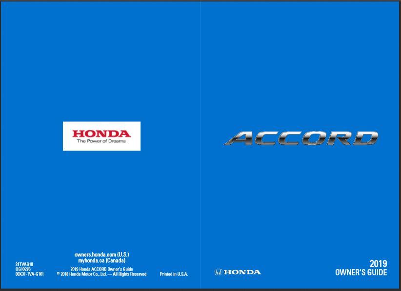 2019 Honda Accord Owner's Guide
