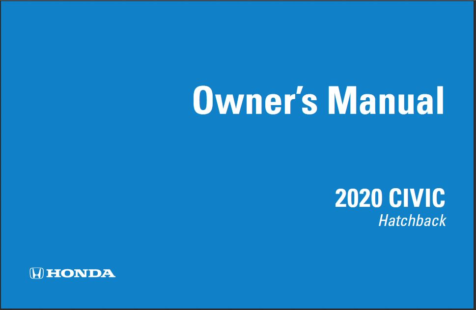 2020 Honda Civic Hatchback Owners Manual