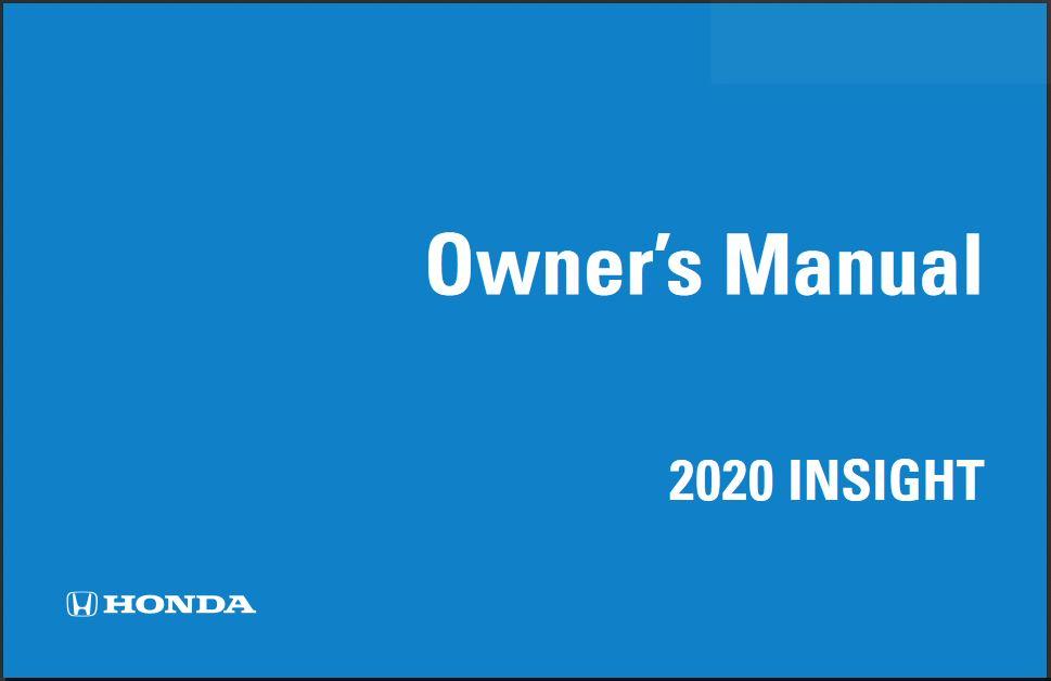 2020 Honda Insight Owner's Manual