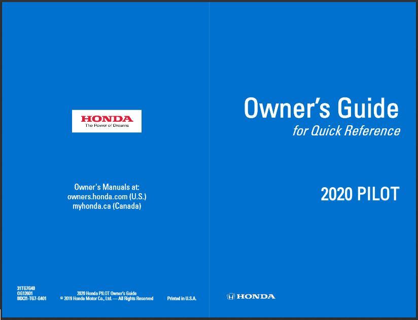 2020 Honda Pilot Owner's Guide