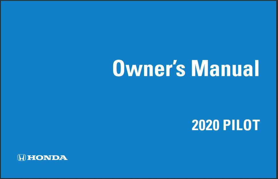 2020 Honda Pilot Owners Manual