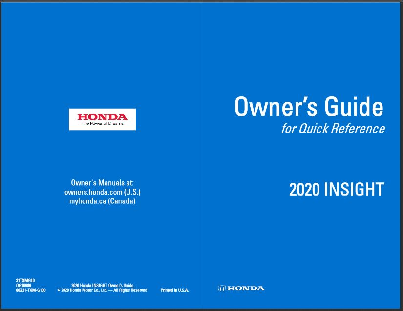 2020 Insight Owners Guide