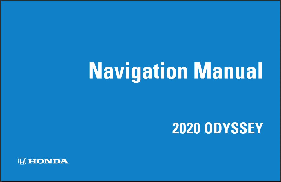 2020 Honda Odyssey Navigation Manual