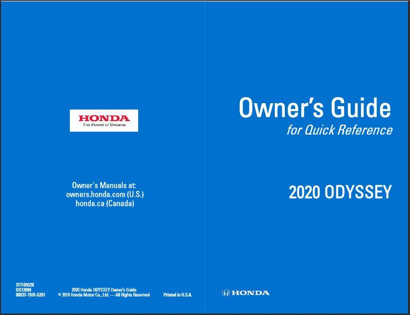 2020 Honda Odyssey Owner's Guide