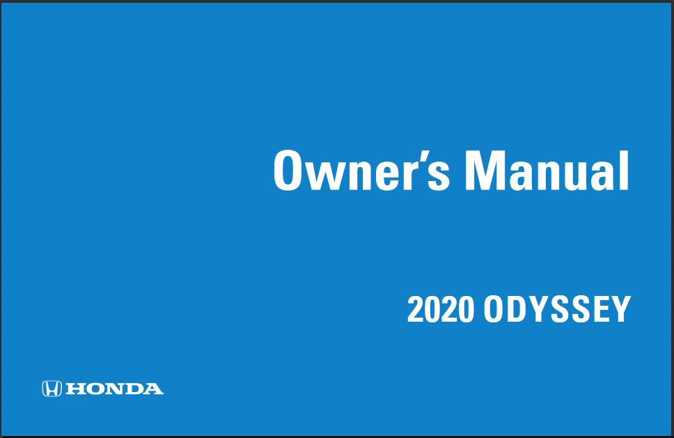 2020 Honda Odyssey Owners Manual