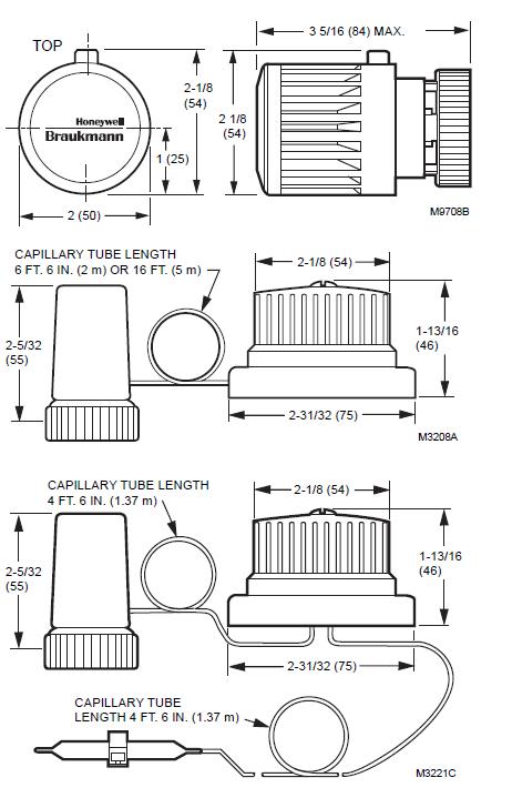 Hamilton T104 Series Dimension