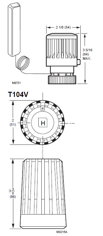 Hamilton T104 Series Dimension2