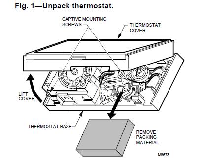 Honeywell 191108AJ Thermostat Unpack