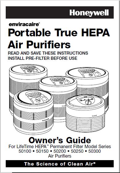 Honeywell 50250 Air Cleaner User Manual