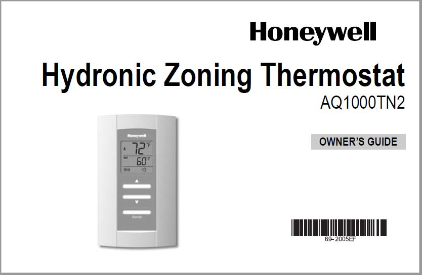 Honeywell AQ1000TN2 User Manual