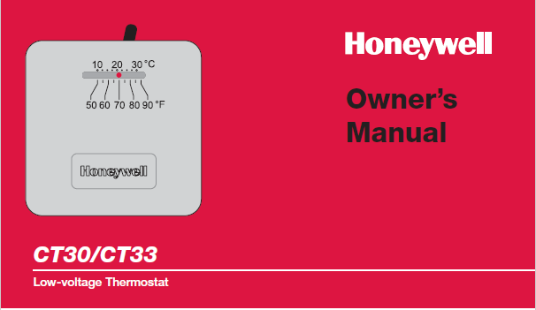 Honeywell CT30-CT33 Owners Manual