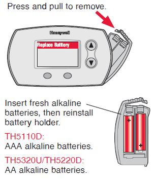Honeywell FocusPRO 5000 Battery replacement