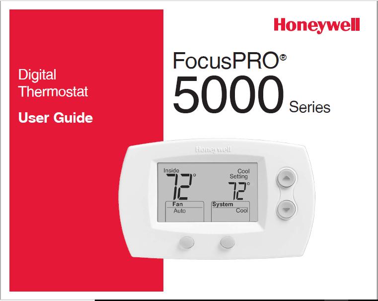 Honeywell FocusPRO 5000 Series User Guide