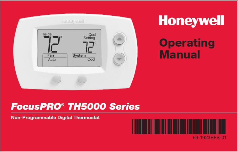 HONEYWELL FOCUSPRO TH5000 SERIES Operating Manual
