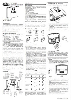 Honeywell Hunter 44100B Owner's Manual