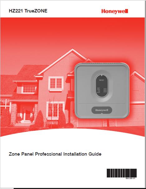 Honeywell HZ221 TrueZONE Manual