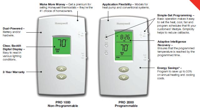 PRO 1000-2000 Thermostats