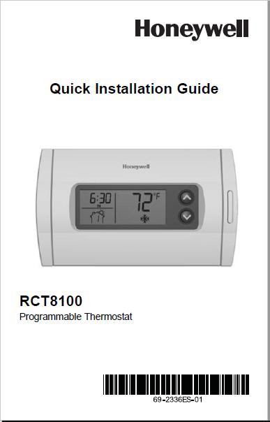 Honeywell RCT8100 Manual