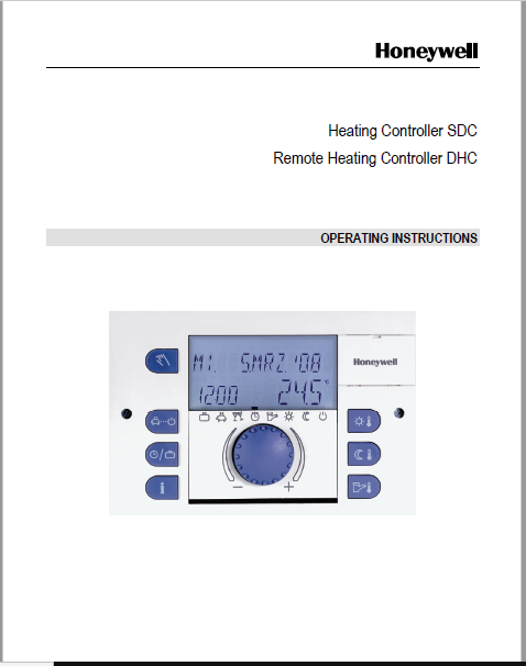 Honeywell Remote Heating Controller DHC Manual