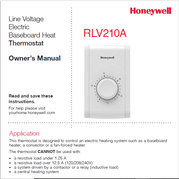 Honeywell RLV210A Owner Manual