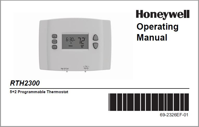 Honeywell RTH2300 Operating Manual