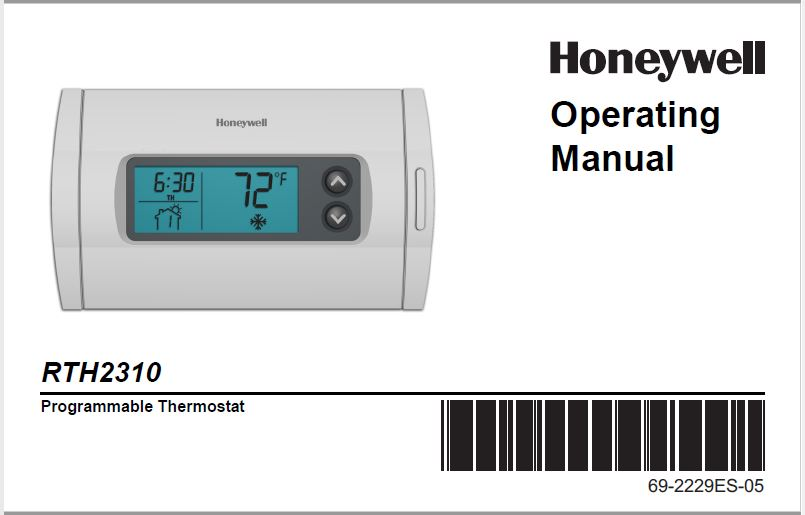 Honeywell RTH2310B Owner's Manual