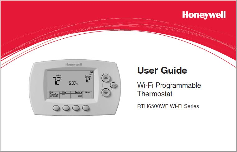 Honeywell RTH6580WF User's Guide