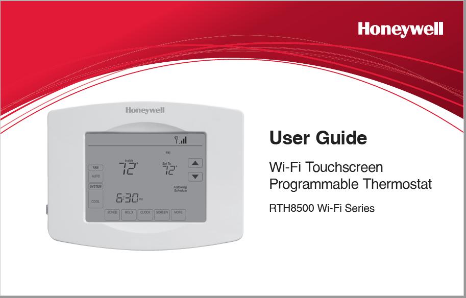 Honeywell RTH8500 Wi-Fi Series Manual
