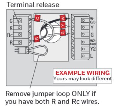Honeywell RTH9580WF Wiring Diagram