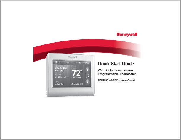 Honeywell RTH9590 Manual