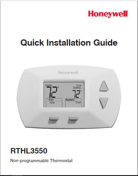 Honeywell RTHL3550D Quick Installation Guide