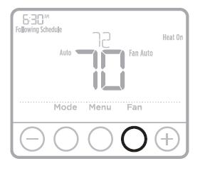Honeywell T4 Pro Fan operation settings