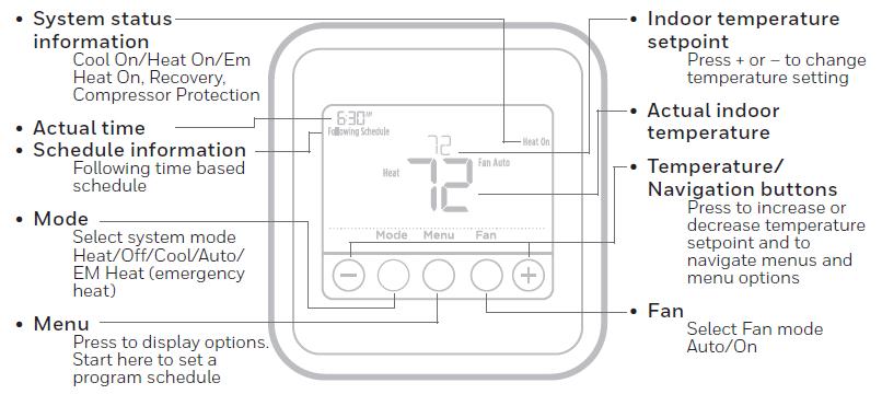 Honeywell T4 Pro Programmable Thermostat