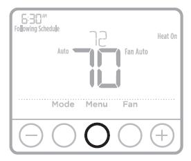 Honeywell T4 Pro Set the time