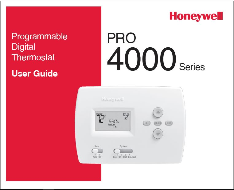 Honeywell TH4110D1007 Owner's Manual