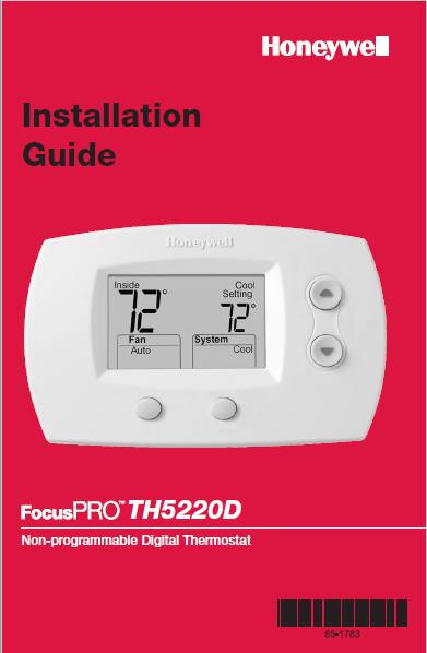 HONEYWELL TH5000 SERIES Installation Manual