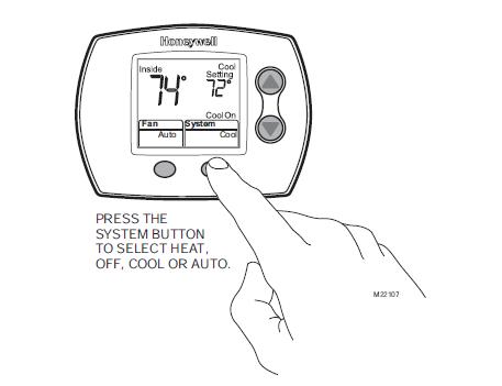 Honeywell TH5110D Set System Setting