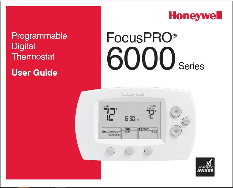 Honeywell TH6110D1005 Owner's Manual