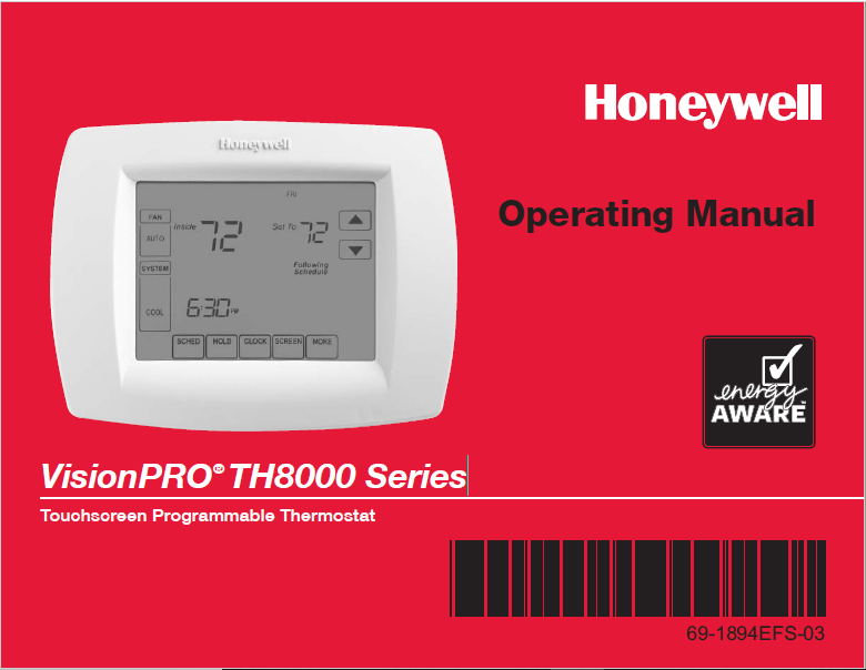 [CSDW_4250]   Honeywell VisionPRO® TH8000 Series | Wiring Diagram Honeywell Th8000 Vision |  | ManualsBooks