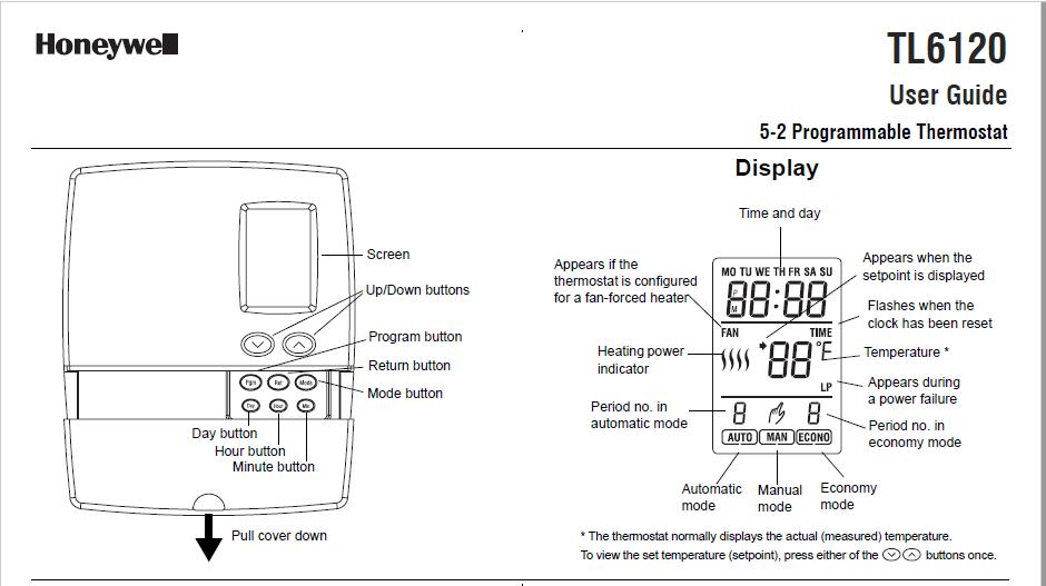 Honeywell TL6120 Manual