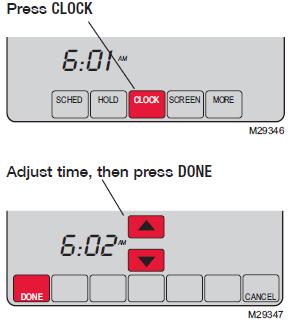 Honeywell Vision Pro 8000 Clock setting