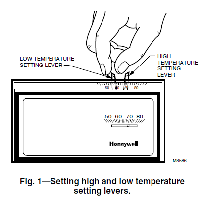 Setting the Honeywell T8190A Temperature
